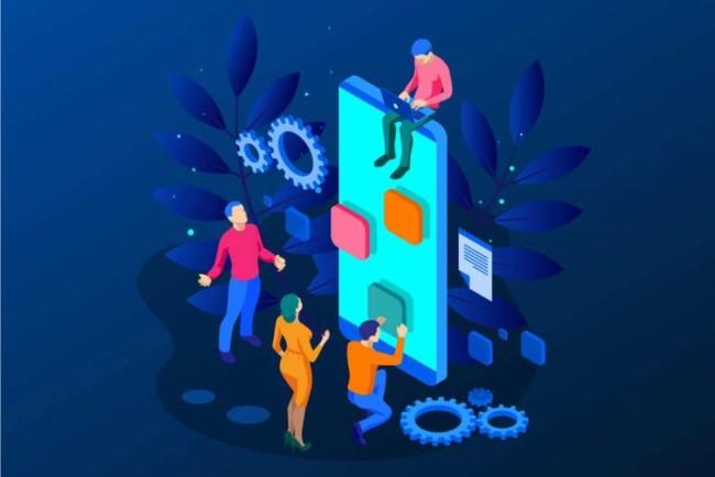 Developers using app development best practices