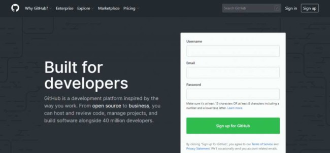 Software Development Tools: GitHub Site Homepage