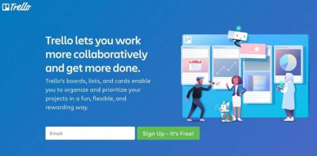 Trello project management tool for software development