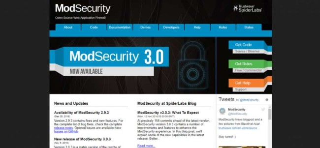 ModSecurity Site Homepage