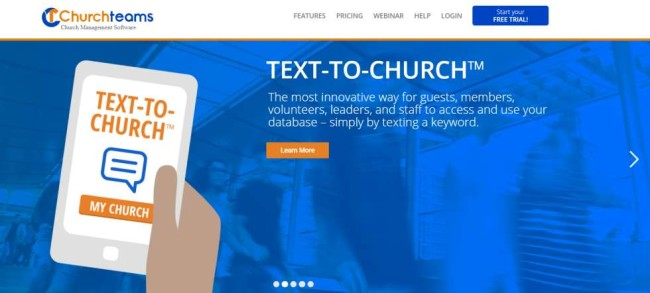 Churchteams church management software