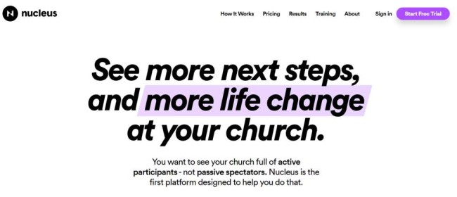 Nucleus church management software