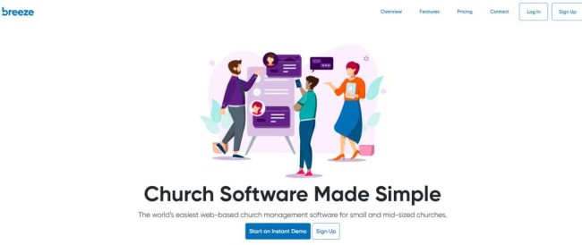Breeze church management software