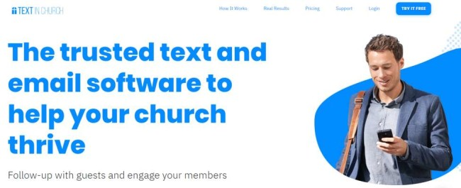 Text in Church website