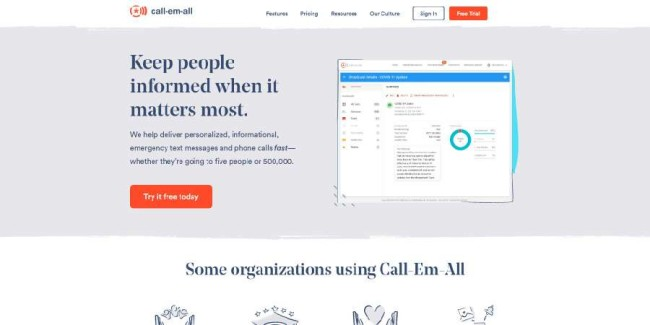 Call-em-all church management platform