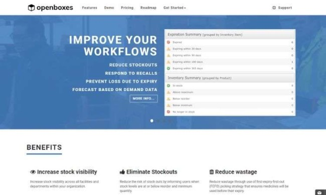 OpenBoxes - free inventory management software