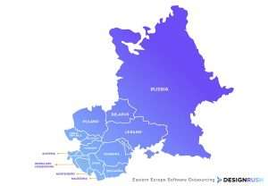 Eastern Europe Software Outsourcing - Map of Eastern Europe