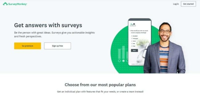 Top SaaS companies: SurveyMonkey