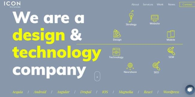 ICON Worldwide website