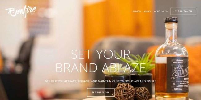 Denver web design companies: Bonfire Effect