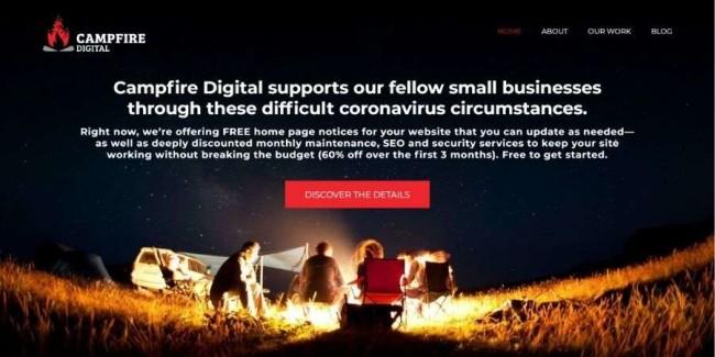 Denver web design companies: Campfire Digital