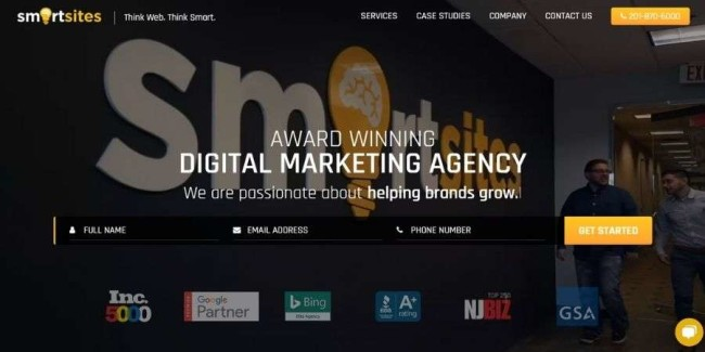 Top NJ website design companies: SmartSites