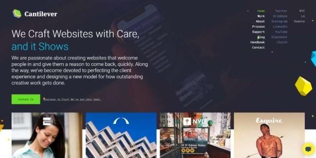 Top NJ website design companies: Cantilever