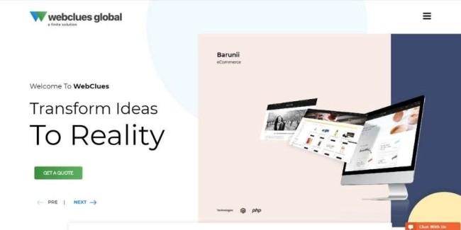Atlanta web design companies: WebClues Global