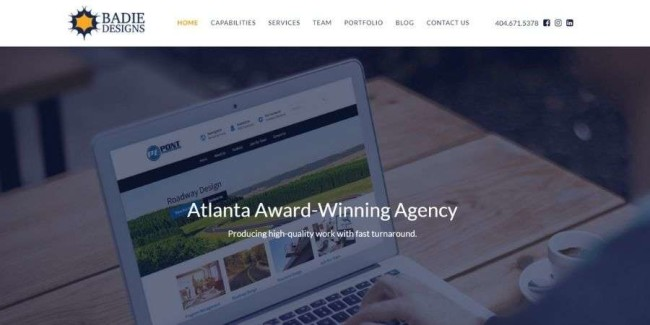 Atlanta web design companies: Badie Designs