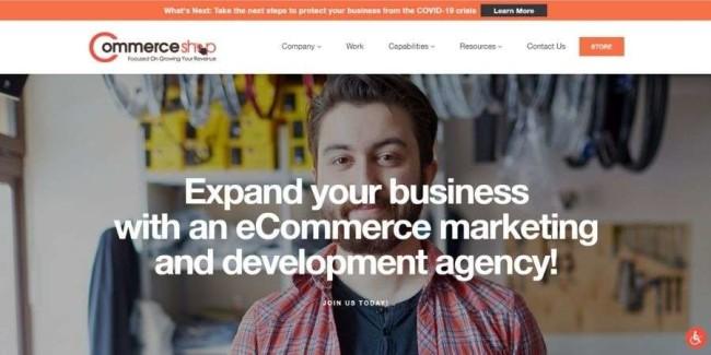 Atlanta web design companies: CommerceShop