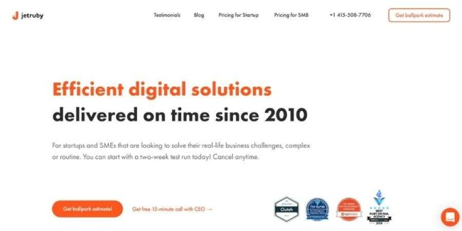 JetRuby Agency website