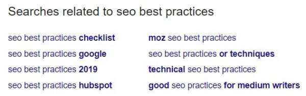 Keyword research with Google Related Searches