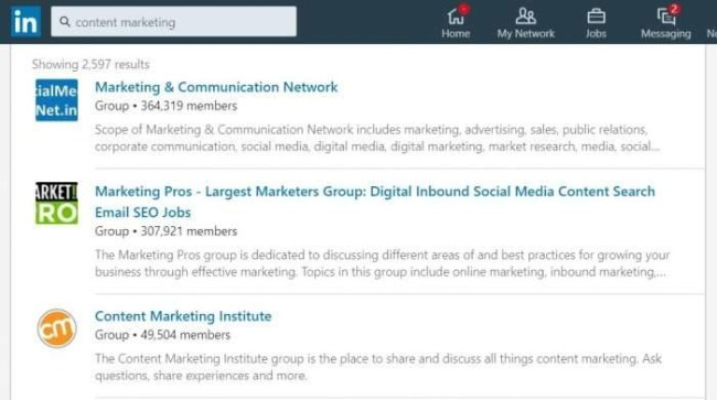 Keyword research with LinkedIn