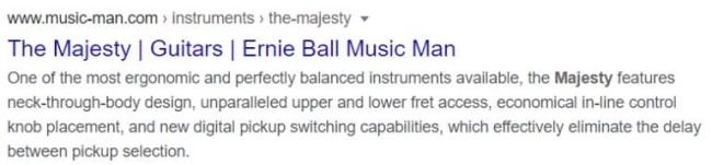 Music Man guitars meta description