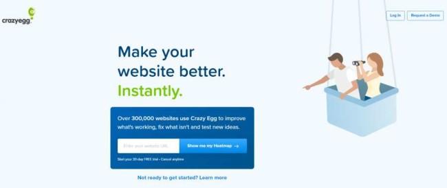 Conversion marketing tools: Crazyegg