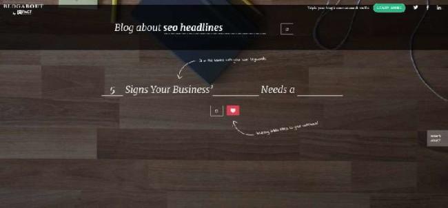 blog about - SEO headline - tools