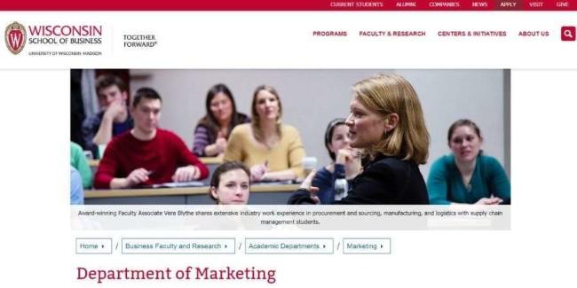 Best marketing schools: University of Wisconsin