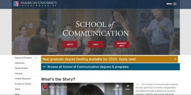 Best marketing schools: American University