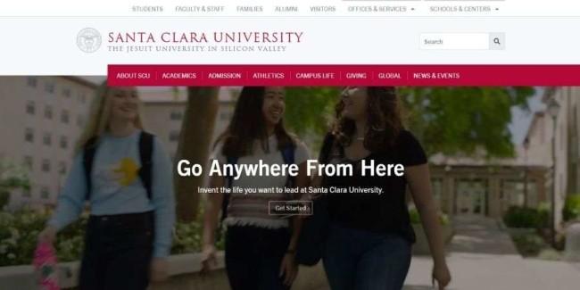 Santa Clara University website