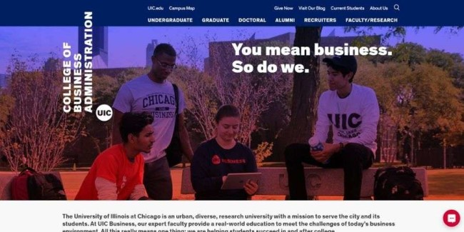 The University of Illinois at Chicago website