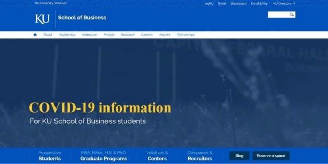 University of Kansas website
