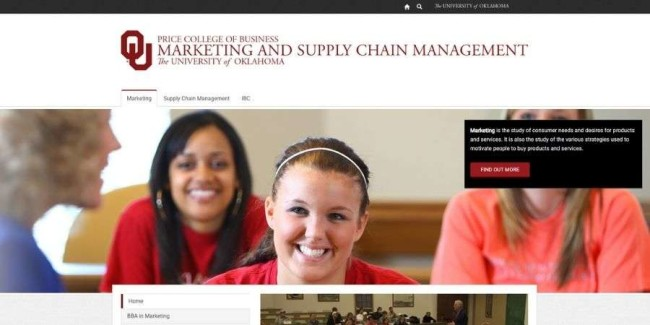 University of Oklahoma website