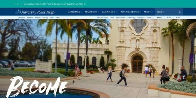 University of San Diego website