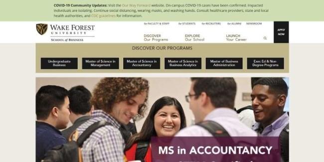 Wake Forest University website