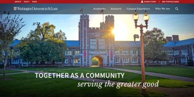 Washington University in St. Louis website