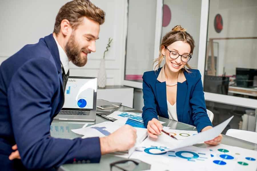 Digital marketers looking at analytics