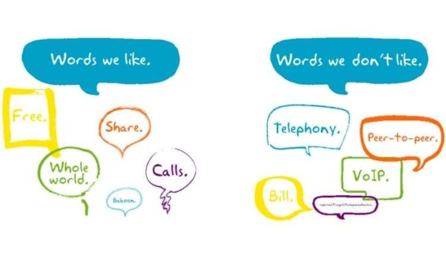 Brand voice guidelines: Skype's preferred words