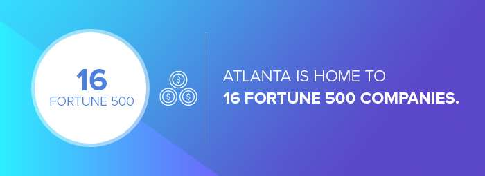 The number of Fortune 500 companies in Atlanta