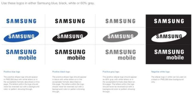 Brand book examples: Samsung guidelines