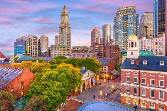 Boston public relations: Skyline over Boston and Massachusetts