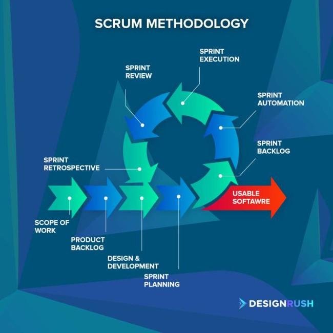 Scrum software development process
