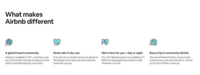 Airbnb's service branding that represents the experience of their customers