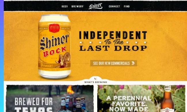 Shiner web design