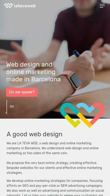 La Tava Web mobile-first website