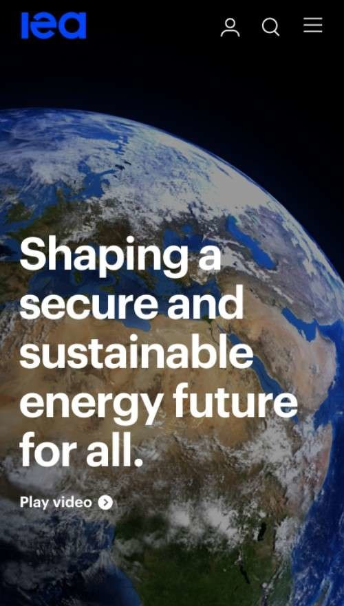 International Energy Agency mobile-first design