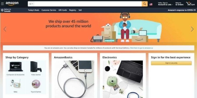 best tech websites: Amazon