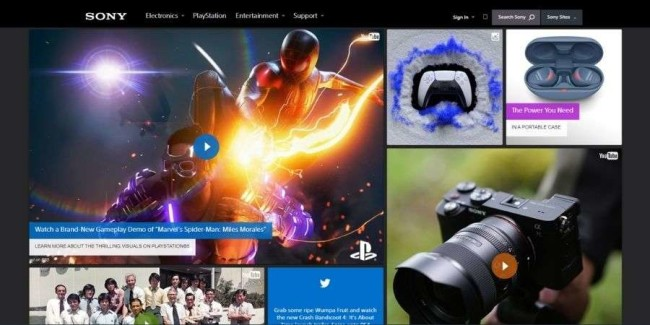 best tech websites: Sony