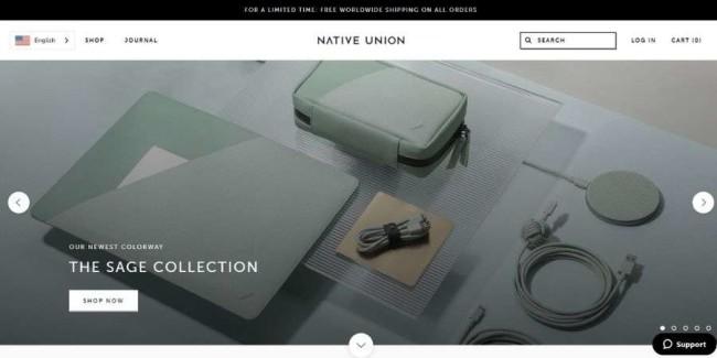 Native Union website