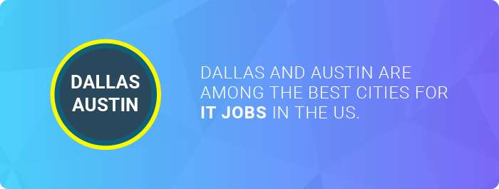 The best cities for IT jobs