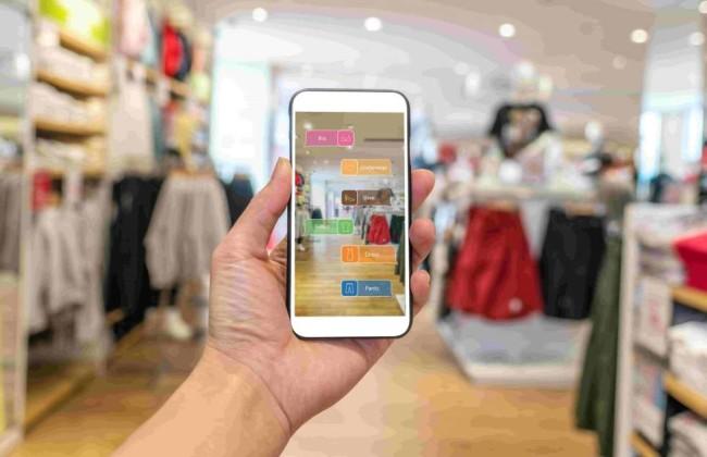an eCommerce mobile AR integration for website improvement